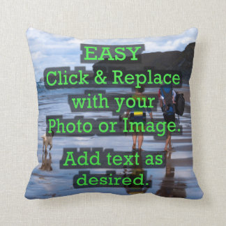 Easy Click & Replace Image to Create Your Own Throw Pillow