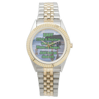 Easy Click & Replace Image to Create Your Own Wristwatches