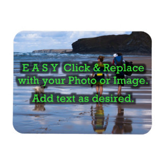 Easy Click to Create Your Own Horizontal Rectangular Photo Magnet