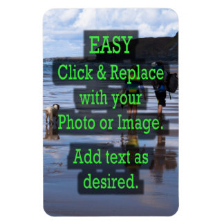 Easy Click to Create Your Own Vertical Rectangular Photo Magnet