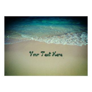 Easy Custom Text Exotic Beach Poster