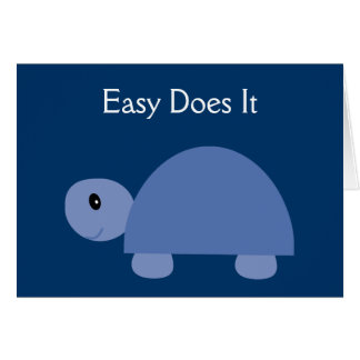 Easy Does It blue turtle recovery card