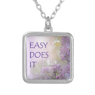 Easy Does It Lilacs Silver Plated Necklace