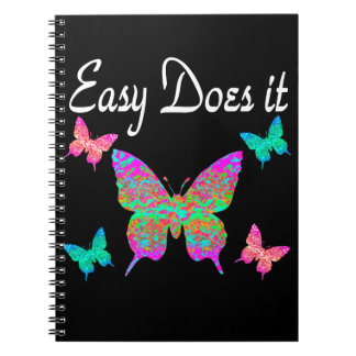 EASY DOES IT PRETTY BUTTERFLY DESIGN SPIRAL NOTEBOOKS