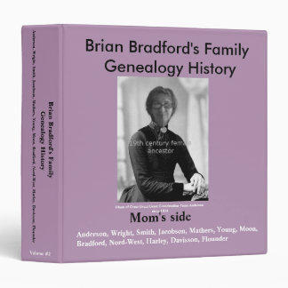 Easy Genealogy History Binder - Mom's side