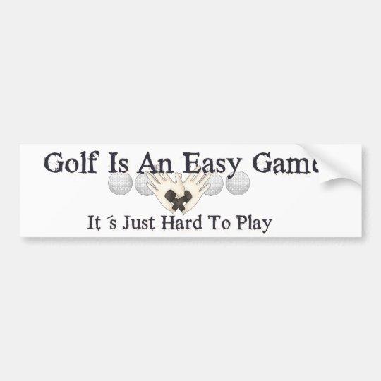 Easy Golf Bumper Sticker
