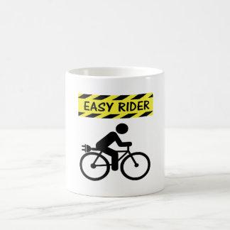 """Easy rider"" ebike custom mugs for cyclists"