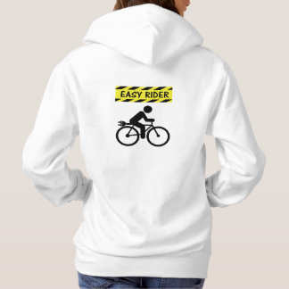 """Easy rider"" ebike cycling hoodies for women"