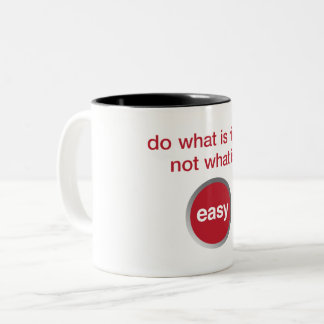 Easy Way Out Two-Tone Coffee Mug