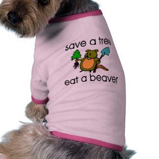 Eat A Beaver Dog T Shirt