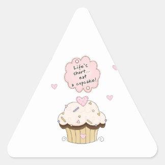 Eat A Cupcake Triangle Sticker