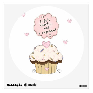 Eat A Cupcake Wall Decal