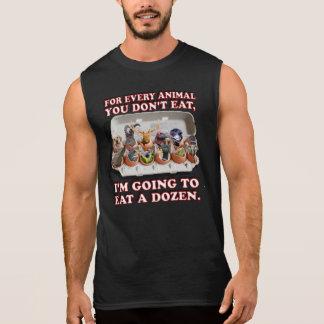 """""""Eat a Dozen Animals"""" Black Muscle Shirt"""