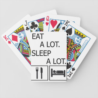 Eat A Lot Sleep A Lot Bicycle Playing Cards