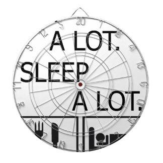 Eat A Lot Sleep A Lot Dartboard