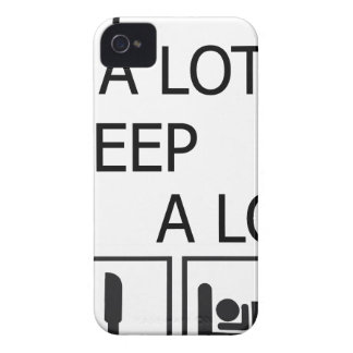 Eat A Lot Sleep A Lot iPhone 4 Cover