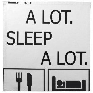 Eat A Lot Sleep A Lot Napkin