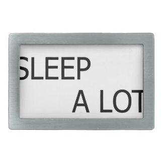 Eat A Lot Sleep A Lot Rectangular Belt Buckles