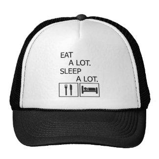 Eat A Lot Sleep A Lot Trucker Hat