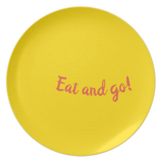 Eat and go plate