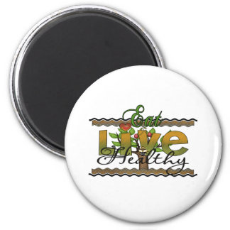 Eat and Live Healthy Magnet