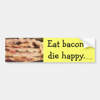 Eat Bacon Bumper Sticker