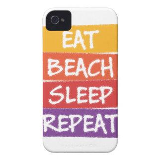 Eat Beach Sleep Repeat Case-Mate iPhone 4 Cases