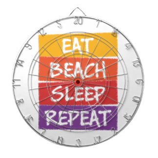 Eat Beach Sleep Repeat Dartboard
