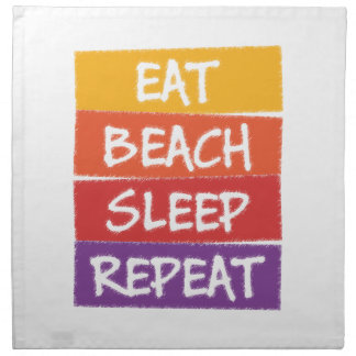 Eat Beach Sleep Repeat Napkin