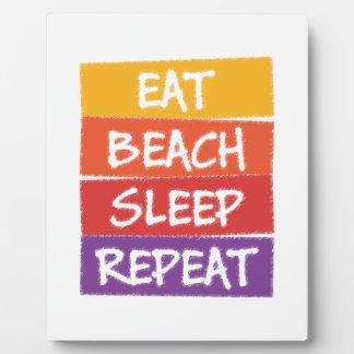Eat Beach Sleep Repeat Plaque