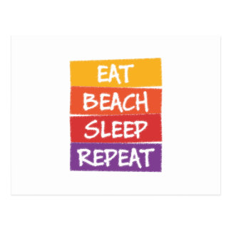Eat Beach Sleep Repeat Postcard