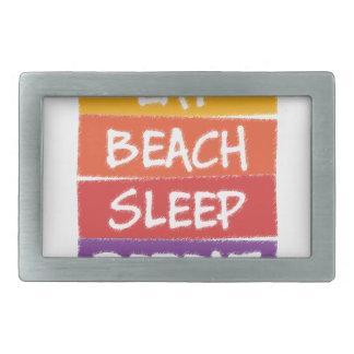 Eat Beach Sleep Repeat Rectangular Belt Buckles