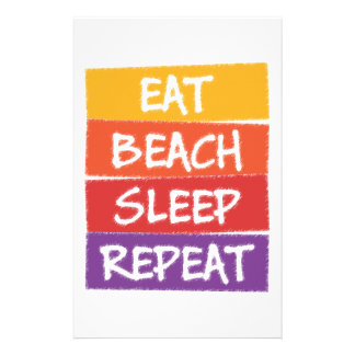 Eat Beach Sleep Repeat Stationery