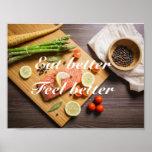 Eat better, feel better poster