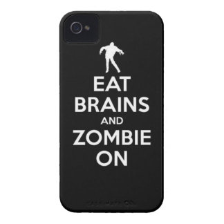 eat brains and zombie on iPhone 4 case
