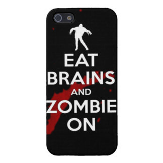 Eat brains and zombie on undead walkers walking co case for the iPhone 5