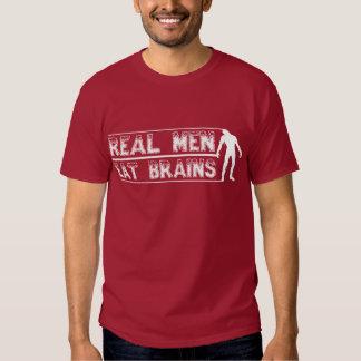Eat Brains zombie dark tee