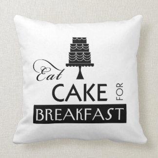 Eat Cake for Breakfast Throw Pillow