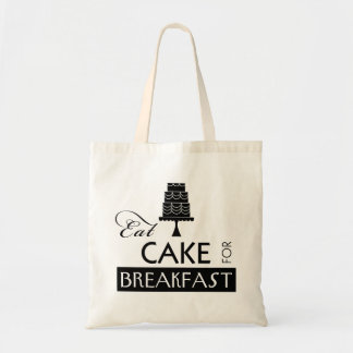Eat Cake for Breakfast Tote Bags