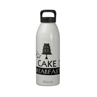 Eat Cake for Breakfast Water Bottle