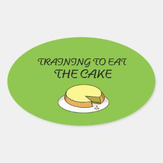 Eat cake gym sticker