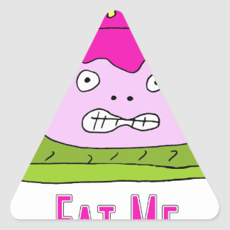 Eat Cake Triangle Sticker