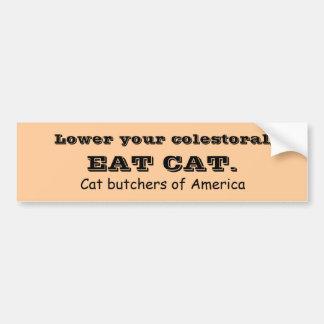 EAT CAT BUMPER STICKER