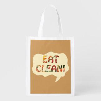 Eat Clean Healthy Tote Bag Market Totes
