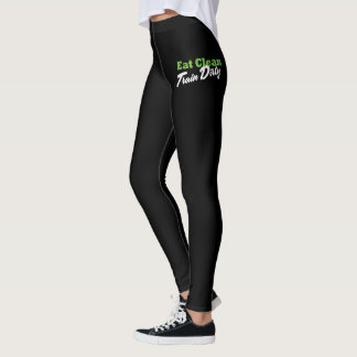 EAT CLEAN TRAIN DIRTY Gym Workout Fitness Leggings