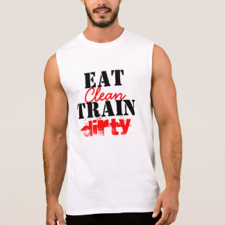 'Eat Clean, Train Dirty' Muscle Gym Tee