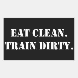 Eat Clean Train Dirty Rectangular Sticker