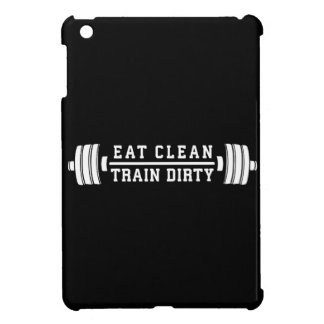 Eat Clean, Train Dirty - Workout Inspirational iPad Mini Covers