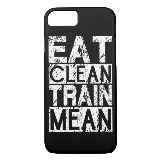 EAT CLEAN, TRAIN MEAN - Workout Motivational iPhone 7 Case