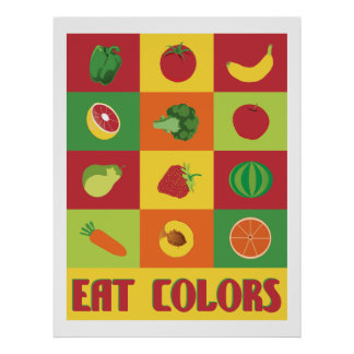 Eat Colors Fruit and Vegetable poster